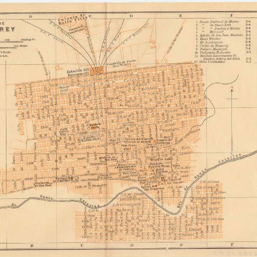 Monterrey 1894 | Monterey | Pinterest |Old Monterrey Mexico Map